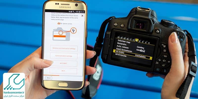 اتصال دوربین کانن به گوشی موبایل