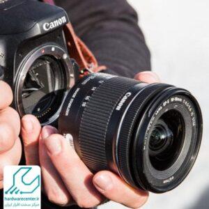 آموزش تعویض لنز دوربین کانن